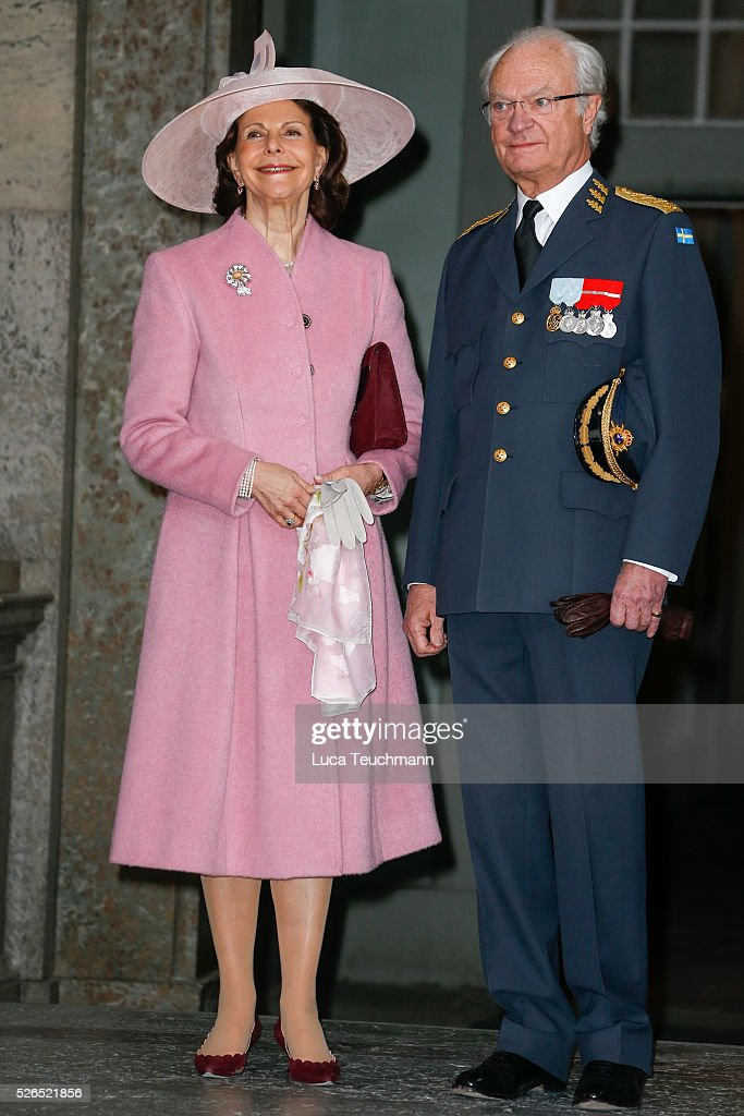 Queen Silvia and King Carl Gustaf of Sweden attend the celebrations of the Swedish Armed Forces for the 70th birthday of King Carl Gustaf of Sweden on April 30, 2016 in Stockholm, Sweden.