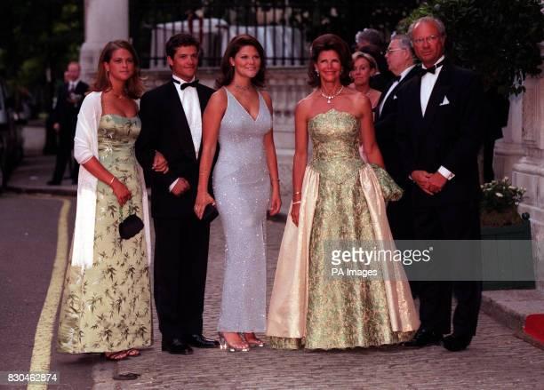 Queen Silvia King Carl Gustaf of Sweden their daughter Princess Victoria their son Prince Carl Philip and their younger daughter Princess Madeleine...