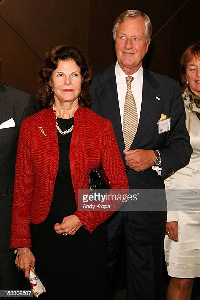 M Queen Silvia of Sweden and Chairman of Unilever Michael Treschow attend the 5th annual SwedishAmerican Chamber Of Commerce Green Summit From Farm...