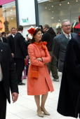 Queen Silvia of Sweden and HRH Prince Consort Prince Henrik visit Field's Scandinavia's largest shopping centre on May 10 2007 in Copenhagen Denmark...