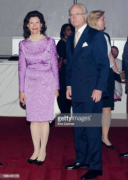 Queen Silvia of Sweden and King Carl XVI Gustaf of Sweden attend A Performance By The Washington Ballet at John F Kennedy Center for the Performing...