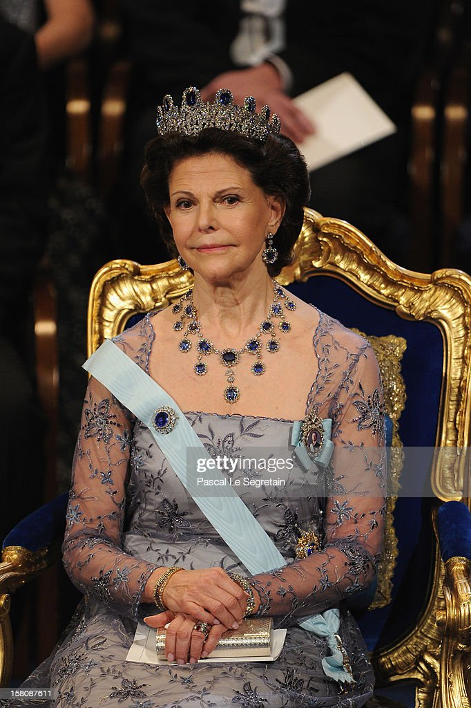 Queen Silvia of Sweden attends the 2012 Nobel Prize Award Ceremony at Concert Hall on December 10, 2012 in Stockholm, Sweden.