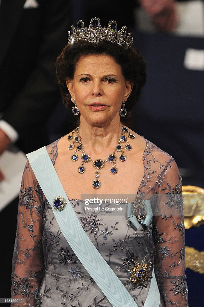 Queen Silvia of Sweden attends the 2012 Nobel Prize Award Ceremony at Concert Hall on December 10, 2012 in Stockholm, Sweden.