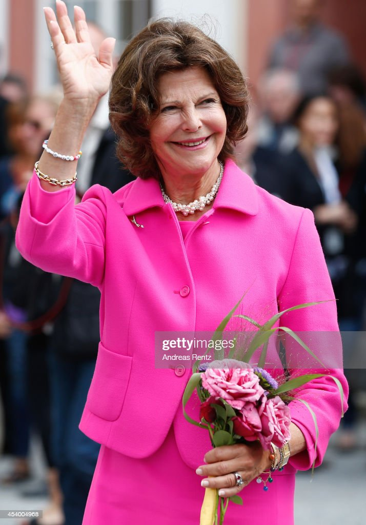 Queen Silvia of Sweden attends the 5th Lindau meeting on Economic Scienes an event in connection with the 15th anniversary of World Childhood Foundation at Island Mainau on August 23, 2014 in Konstanz, Germany.