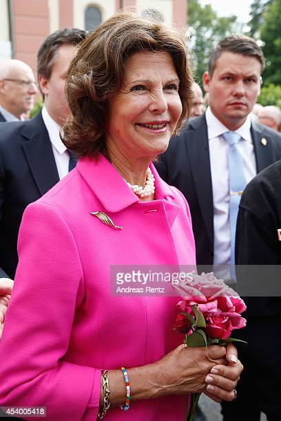 Queen Silvia of Sweden attends the 5th Lindau meeting on Economic Scienes an event in connection with the 15th anniversary of World Childhood...