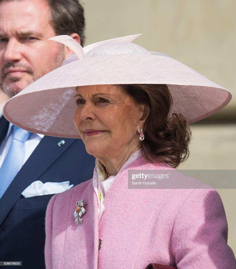 L-R) Queen Silvia of Sweden attends the celebrations of the Swedish Armed Forces for the 70th birthday of King Carl Gustaf of Sweden on April 30, 2016 in Stockholm, Sweden.