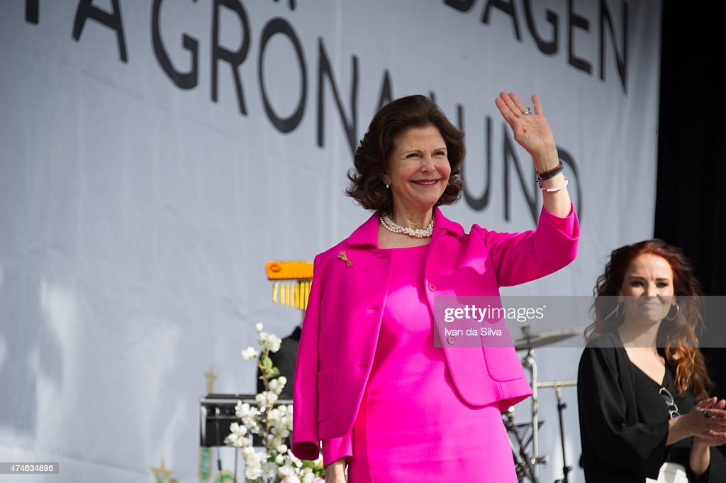 Queen Silvia of Sweden attends The Childhood Day in Stockholm on May 24, 2015 in Stockholm, Sweden. (Photo by Ivan Da Silva/Getty Images).