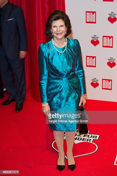 Queen Silvia of Sweden attends the Ein Herz Fuer Kinder Gala 2014 at Tempelhof Airport on December 6 2014 in Berlin Germany