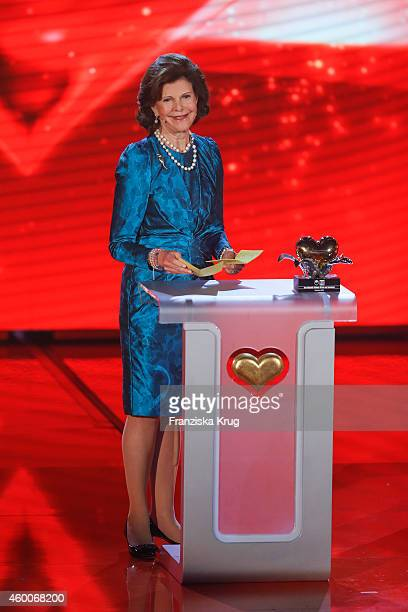 Queen Silvia of Sweden attends the Ein Herz Fuer Kinder Gala 2014 Show on December 6 2014 in Berlin Germany