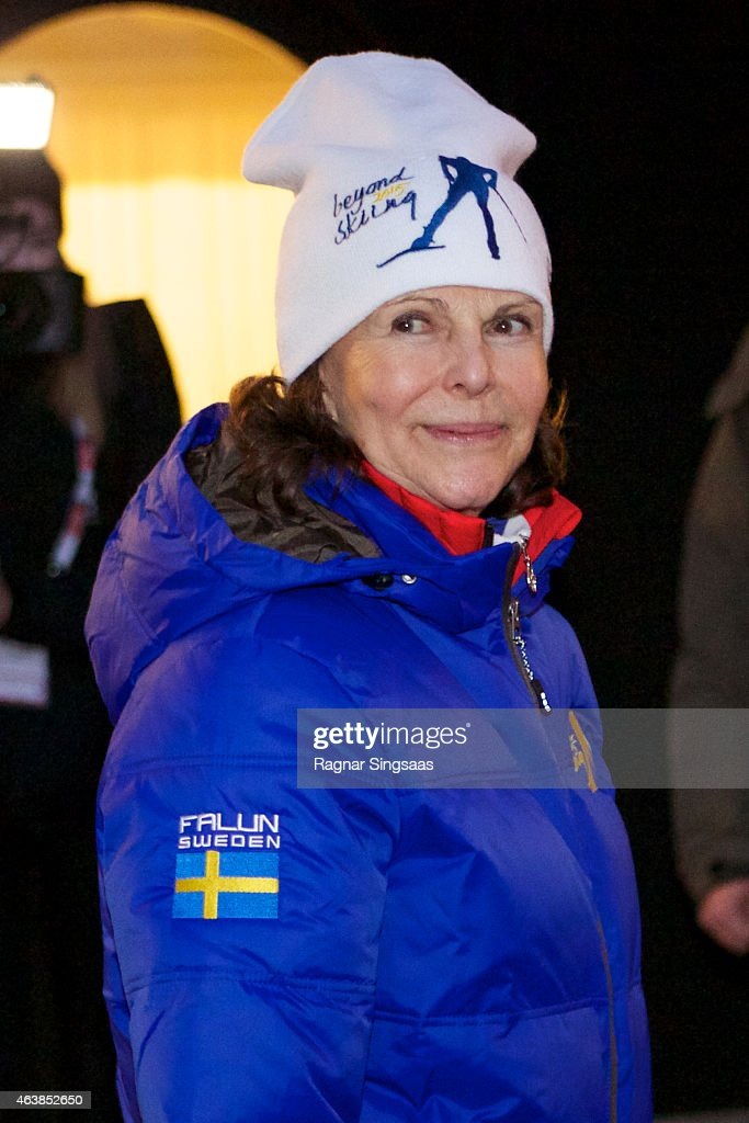 Queen Silvia of Sweden attends the opening of the FIS Nordic World Ski Championships on February 19, 2015 in Falun, Sweden.