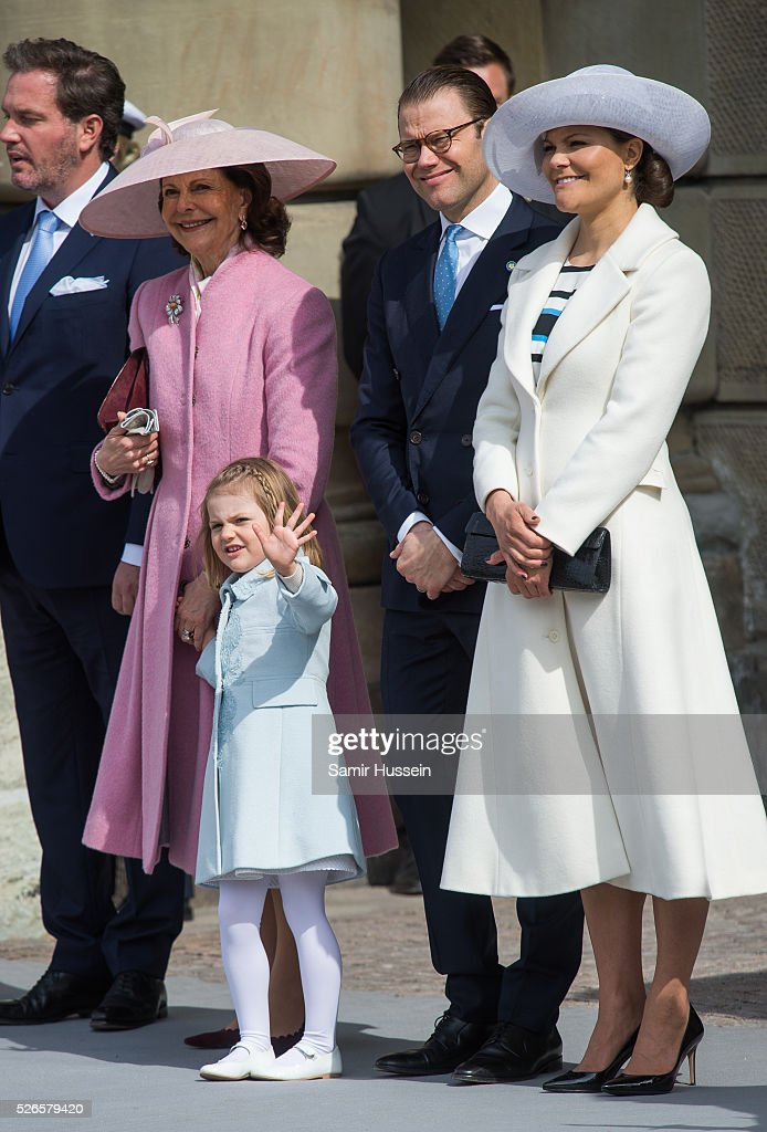 L-R) Queen Silvia of Sweden, Crown Princess Victoria of Sweden, Prince Daniel of Sweden and Crown Princess Victoria of Sweden attend the celebrations of the Swedish Armed Forces for the 70th birthday of King Carl Gustaf of Sweden on April 30, 2016 in Stockholm, Sweden.