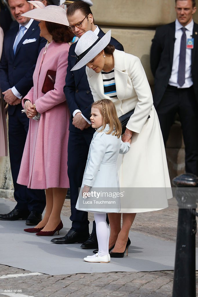 <a gi-track='captionPersonalityLinkClicked' href=/galleries/search?phrase=Queen+Silvia+of+Sweden&family=editorial&specificpeople=160332 ng-click='$event.stopPropagation()'>Queen Silvia of Sweden</a>, Prince Daniel of Sweden, <a gi-track='captionPersonalityLinkClicked' href=/galleries/search?phrase=Crown+Princess+Victoria+of+Sweden&family=editorial&specificpeople=160266 ng-click='$event.stopPropagation()'>Crown Princess Victoria of Sweden</a> and <a gi-track='captionPersonalityLinkClicked' href=/galleries/search?phrase=Princess+Estelle&family=editorial&specificpeople=8948207 ng-click='$event.stopPropagation()'>Princess Estelle</a> of Sweden are seen at the celebrations of the Swedish Armed Forces for the 70th birthday of King Carl Gustaf of Sweden on April 30, 2016 in Stockholm, Sweden.