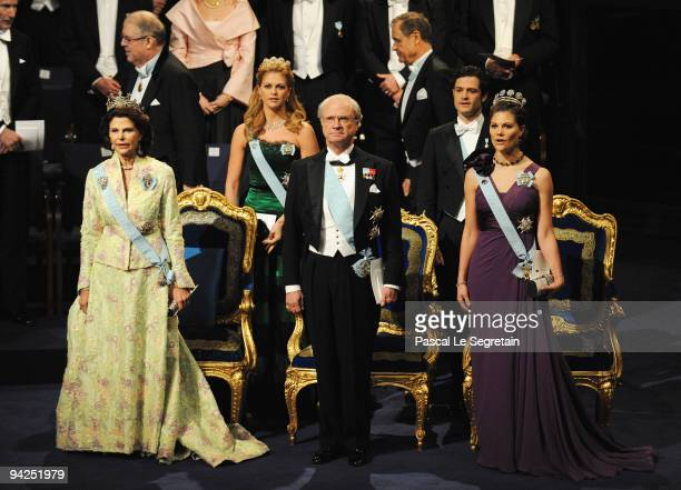Queen Silvia of Sweden Princess Madeleine of Sweden King Carl XVI Gustaf of Sweden Prince Carl Philip of Sweden and Crown Princess Victoria of Sweden...