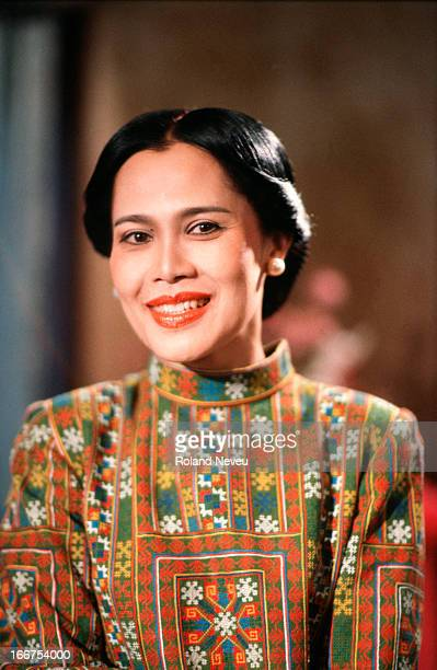 Queen Sirikit of Thailand smiles during the year of her 50th birthday Photographed here at her palace in Hua Hin South of Bangkok