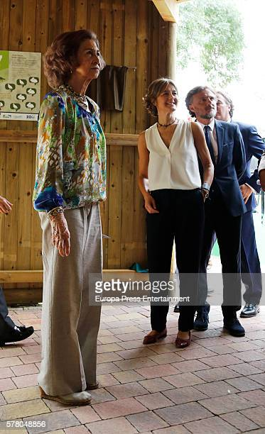 Queen Sofia and Isabel Garcia Tejerina attends the opening of the new facilities for iberian lynx at Zoo Aquarium on July 20 2016 in Madrid Spain