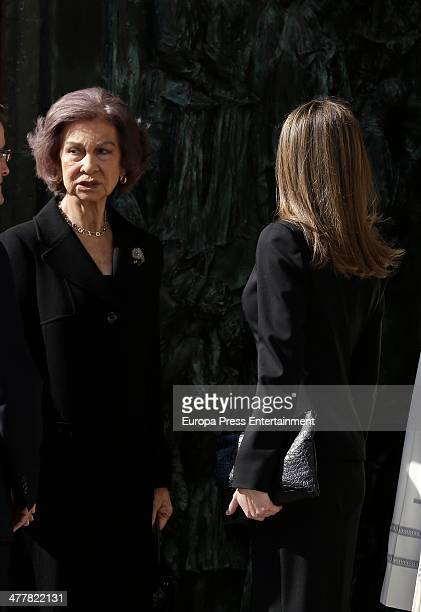 Queen Sofia and Princess Letizia attend the memorial service for the victims of the March 11 2004 terrorist attacks that killed 192 people and...