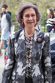 Queen Sofia Arrives To A Meeting At 'Escuela Superior...