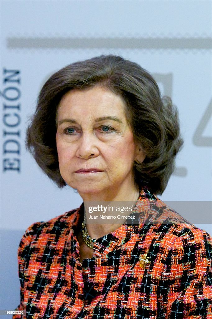 Queen Sofia attends CREFAT Foundation Awards 2015 at Cruz Roja building on November 27, 2015 in Madrid, Spain.