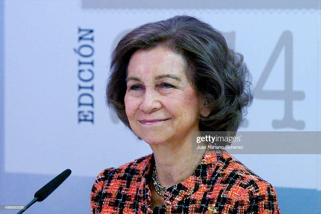 Queen Sofia of Spain Attends CREFAT Foundation Awards 2015