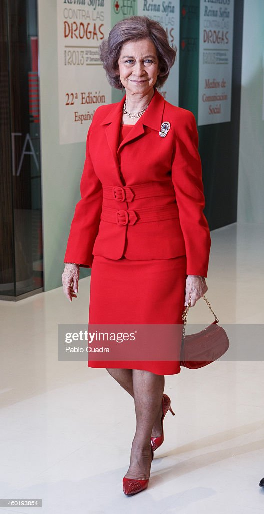 Queen Sofia attends 'Queen Sofia Against Drugs' awards ceremony at the Red Cross foundation building on December 9 2014 in Madrid Spain