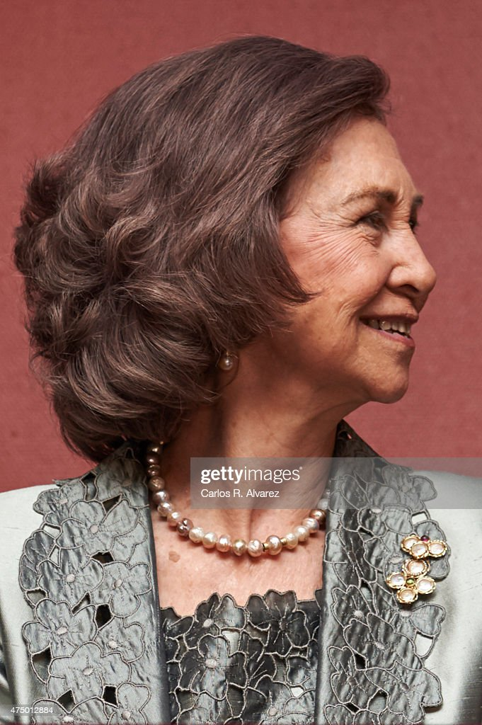 Queen Sofia attends RTVE Orchestra 50th anniversary concert at the Monumental Theater on May 28, 2015 in Madrid, Spain.