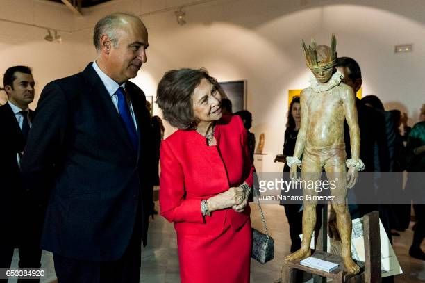 Queen Sofia attends the 52th 'Reina Sofia' painting and sculpture awards at Casa Vacas on March 14 2017 in Madrid Spain