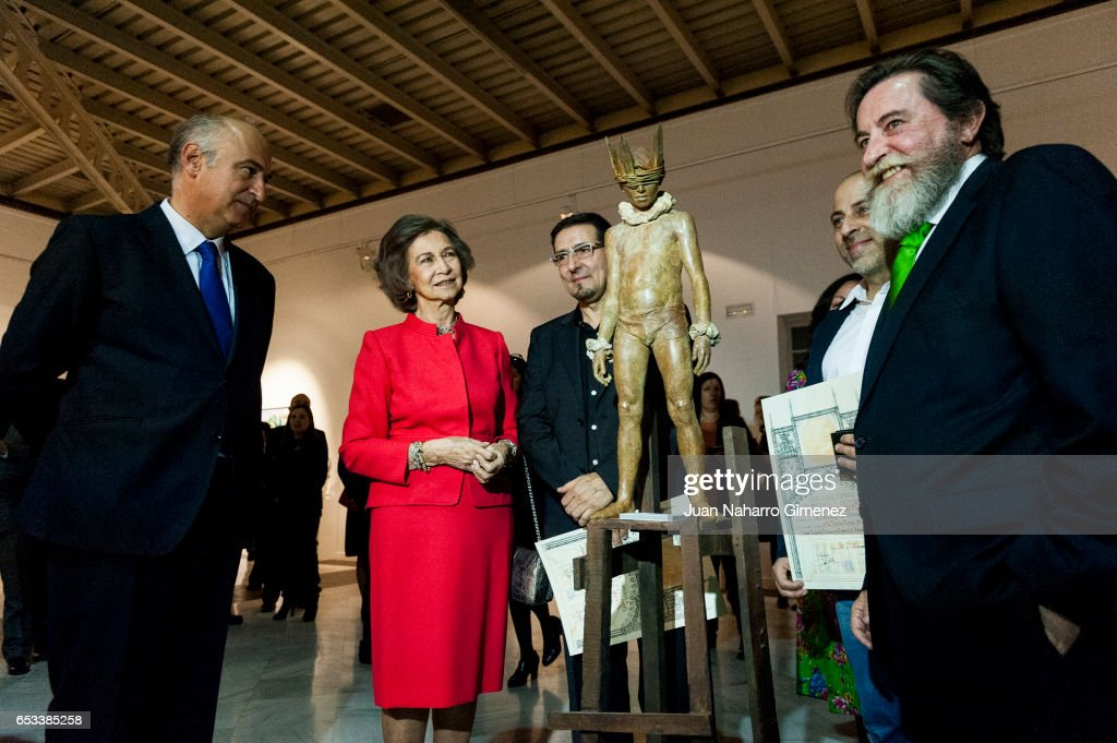 Queen Sofia attends the 52th 'Reina Sofia' painting and sculpture awards at Casa Vacas on March 14, 2017 in Madrid, Spain.
