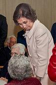 Queen Sofia Attends The Centenary of 'Padre Rubinos'...