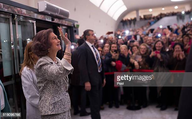 Queen Sofia attends the ceremony to mark the 40th anniversary of the Reina Sofia University Hospital on April 4 2016 in Cordoba Spain