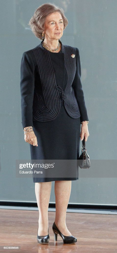 Queen Sofia attends the delivery ceremony of the 'Alfonso X El Sabio' Grand Cross of the Civil Order to Francisco Luzon Lopez at MNCARS on March 13, 2017 in Madrid, Spain.