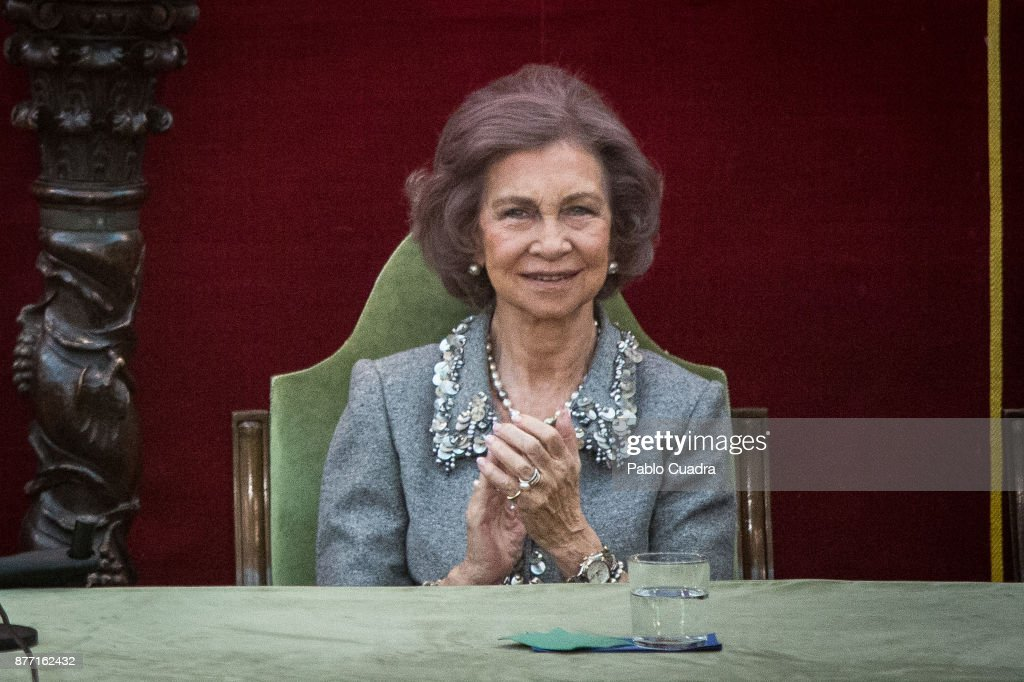 King Juan Carlos And Queen Sofia Deliver 'Medalla Echegaray 2016'