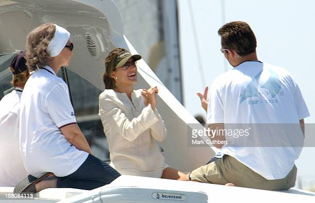 Queen Sofia Crown Princess Letizia Of Spain Inaki Urdangarin During The 2004 Copa Del Rey Regatta In Palma De Mallorca