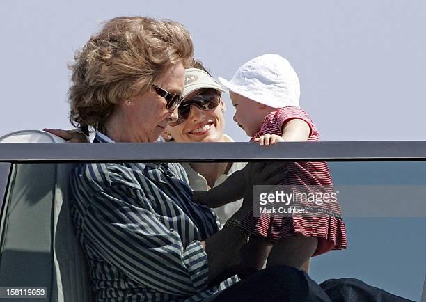 Queen Sofia Crown Princess Letizia Princess Leonor Of Spain During The 2006 Copa Del Rey Regatta In Palma De Mallorca
