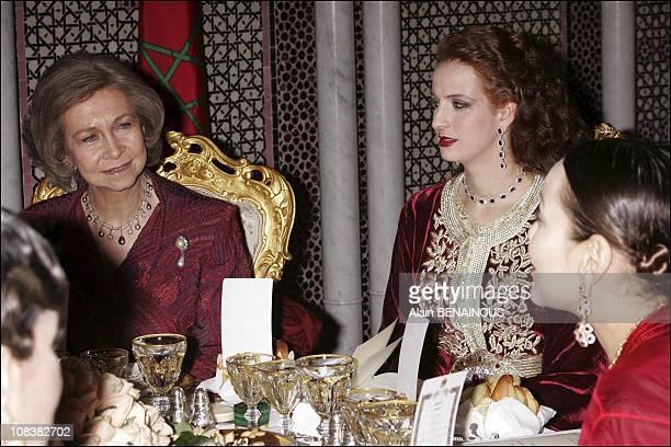 Queen Sofia Lalla Salma in Marrakech Morocco on January 17 2005