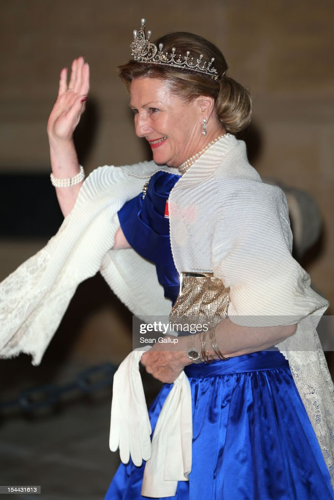 Queen Sofia of Norway attends the Gala dinner for the wedding of Prince Guillaume Of Luxembourg and Stephanie de Lannoy at the Grand-ducal Palace on October 19, 2012 in Luxembourg, Luxembourg. The 30-year-old hereditary Grand Duke of Luxembourg is the last hereditary Prince in Europe to get married, marrying his 28-year old Belgian Countess bride in a lavish 2-day ceremony.