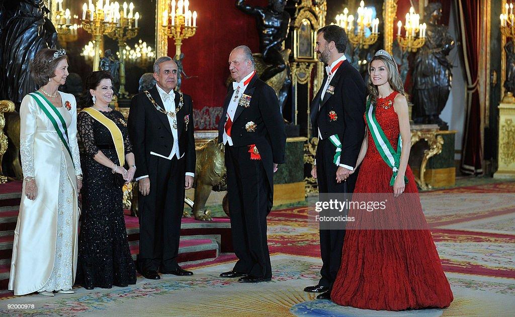 Spanish Royals Host Gala Dinner Honouring President of Libanon