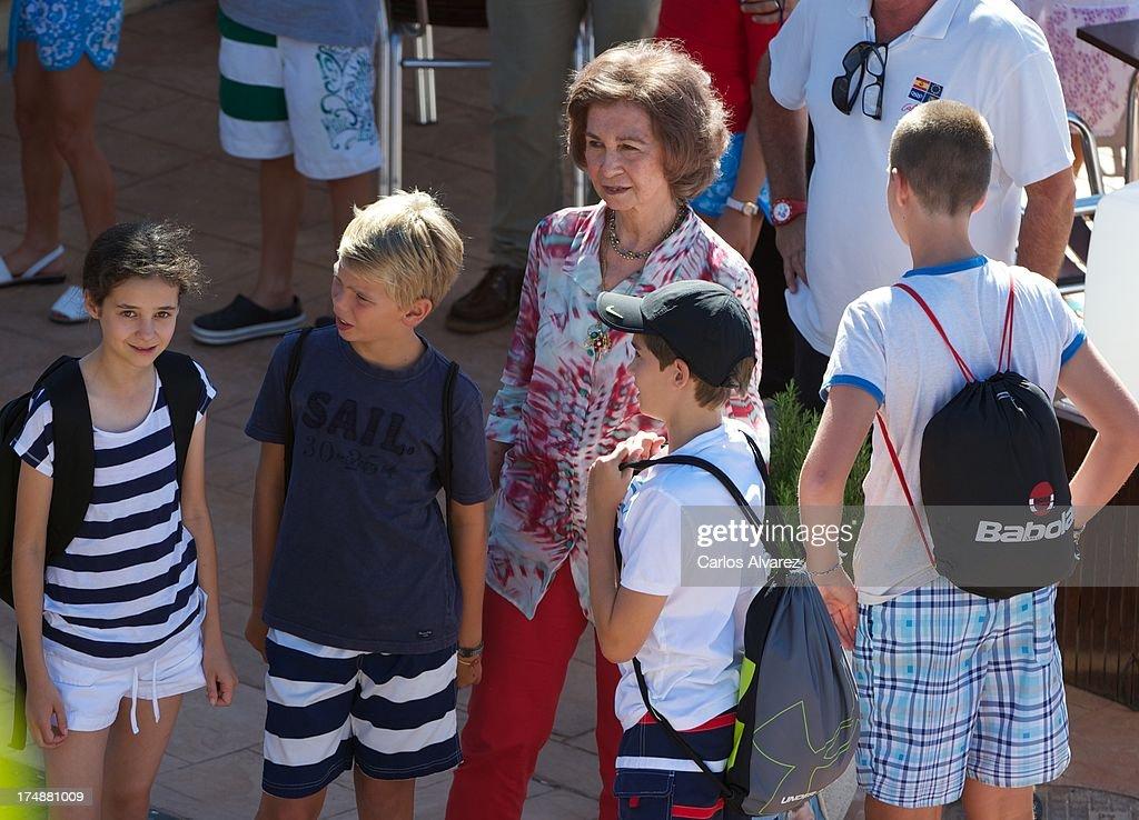 Spanish Royals At The Calanova Sailing School in Mallorca