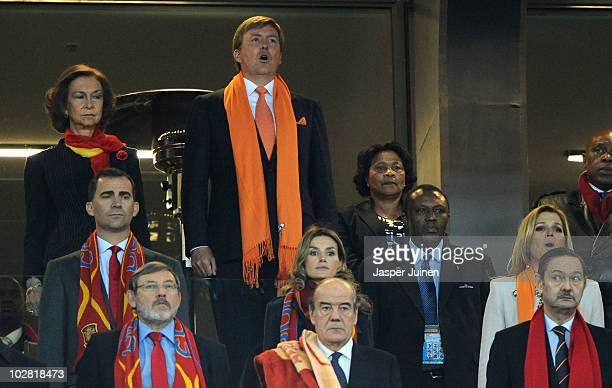 Queen Sofia of Spain and Prince WillemAlexander of the Netherlands and Prince Felipe and Princess Letizia of Spain and Princess Maxima of the...