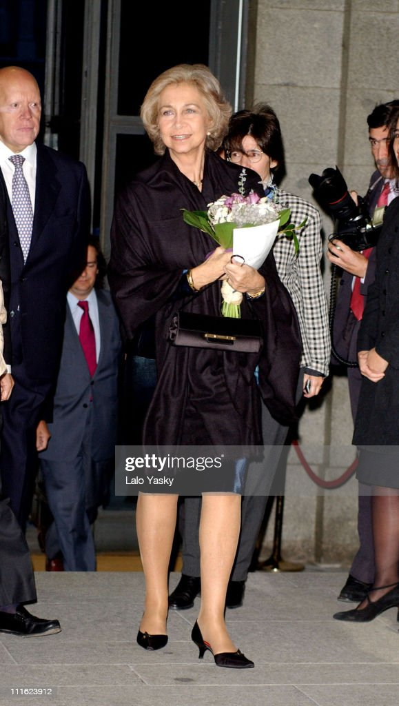 Queen Sofia of Spain Attends Benefit Opera Gala