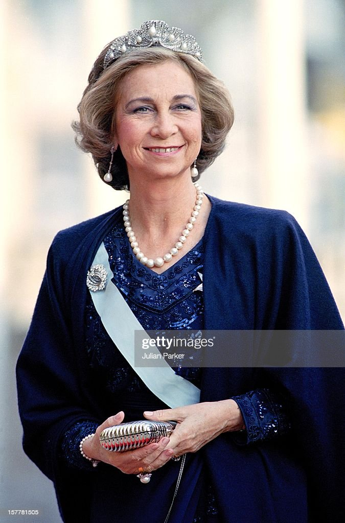 Queen Sofia Of Spain Attends A Performance Of The Dramatic Theatre During The Celebration For King Carl Gustav Of Sweden'S 50Th Birthday