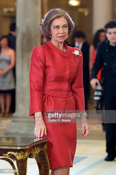 Queen Sofia of Spain attends closing ceremony of the Academic Year of 'Escuela Superior de Musica Reina Sofia' at El Pardo Palace on June 12 2012 in...