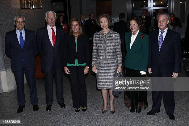 Queen Sofia of Spain attends Cofares foundation award and Christmas Charity concert at Teatro Real in Madrid on December 5 2013 in Madrid Spain
