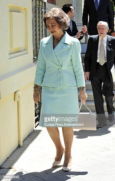 Queen Sofia of Spain attends Drug Foundation Signing at FAD Headquarters on June 4 2013 in Madrid Spain