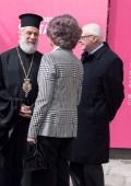 Queen Sofia of Spain attends 'El griego de Toledo' Exhibition Opening at Museo de Santacruz on March 14 2014 in Toledo Spain