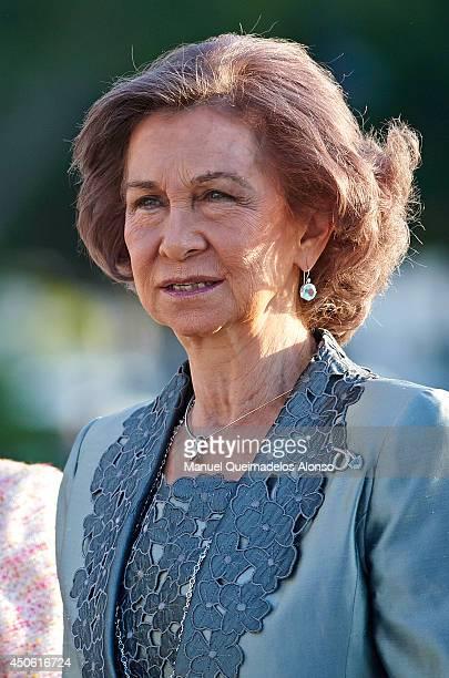 Queen Sofia of Spain attends 'La Forza del Destino' Opera Theatre at Palau de les Arts Reina Sofia on June 14 2014 in Valencia Spain