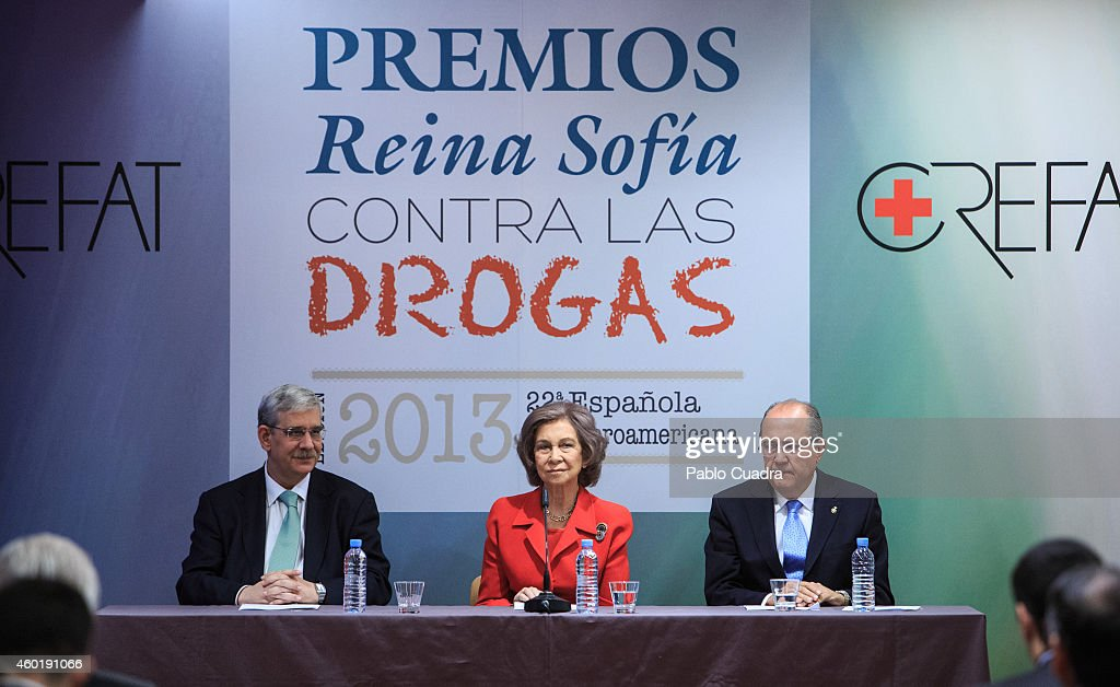 Queen Sofia of Spain (C) attends 'Queen Sofia Against Drugs' awards ceremony at the Red Cross foundation building on December 9, 2014 in Madrid, Spain.