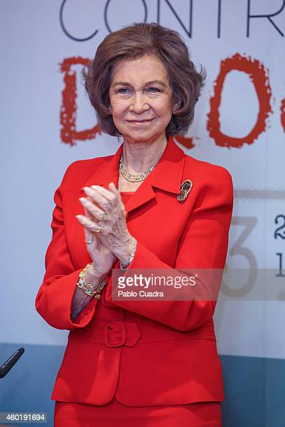 Queen Sofia of Spain attends 'Queen Sofia Against Drugs' awards ceremony at the Red Cross foundation building on December 9 2014 in Madrid Spain
