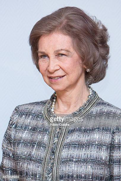 Queen Sofia of Spain attends 'Reina Sofia Musical Composition' awards on October 16 2014 in Madrid Spain
