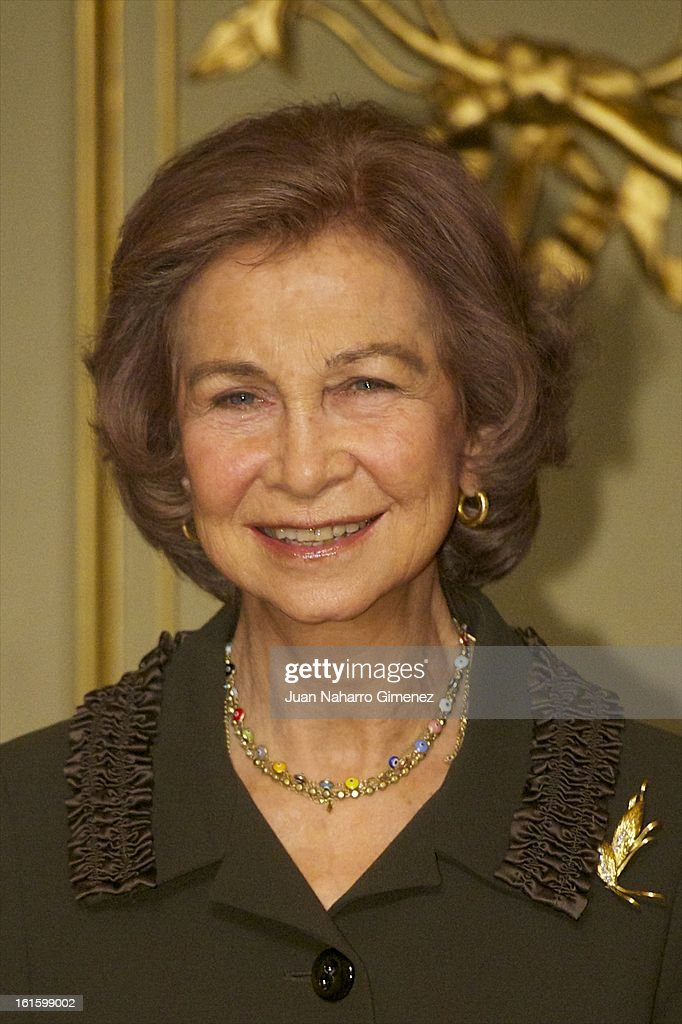 <a gi-track='captionPersonalityLinkClicked' href=/galleries/search?phrase=Queen+Sofia+of+Spain&family=editorial&specificpeople=160333 ng-click='$event.stopPropagation()'>Queen Sofia of Spain</a> attends 'Sociology and Science Politics 2012 Awards' ( Premio Nacional de Solciologia Y Ciencia Politica 2012) at Zurbano Palace on February 12, 2013 in Madrid, Spain.