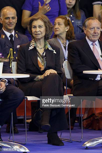 Queen Sofia of Spain attends 'Spring International Dogs' exhibition at Ifema on May 26 2013 in Madrid Spain